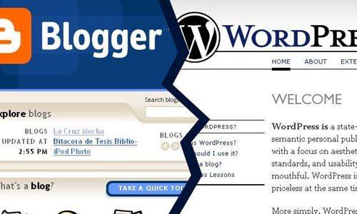 Realizzare siti web e blog in pochi click. WordPress o Blogger?