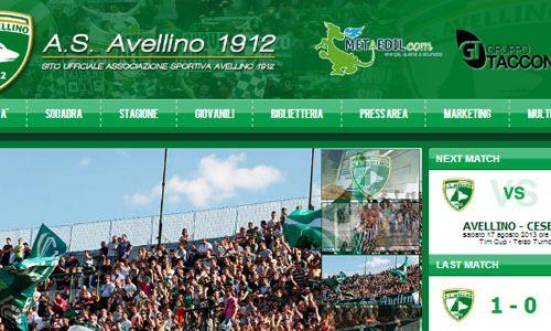 Restyling sito web dell'A.S. Avellino nuovo e completo